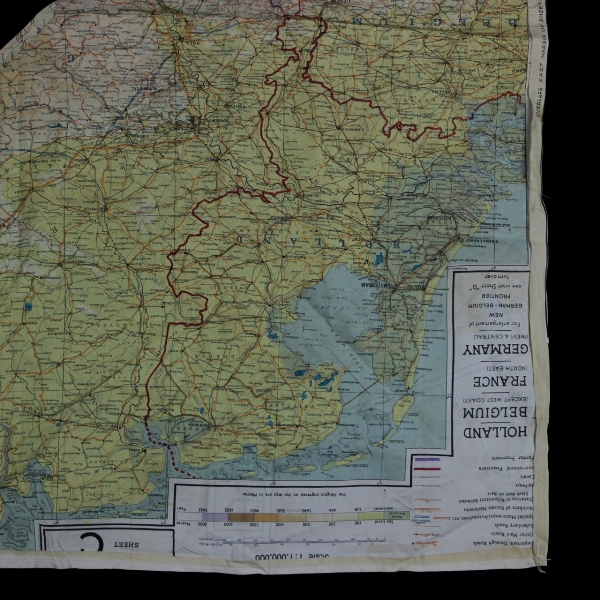 Map Of France Holland And Germany.44th Collectors Avenue Escape Silk Map Sheet C D France Belgium